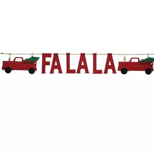 Nwt Red Truck Banner Holiday Christmas Tree